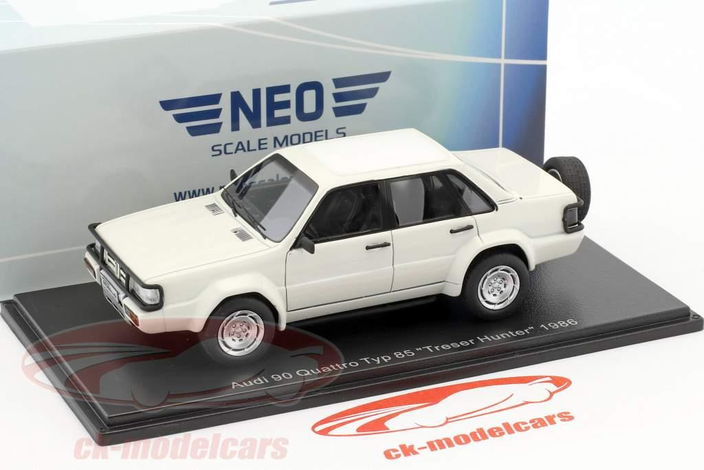 Audi 90 Quattro Type 85 year 1986 white 1:43 Neo
