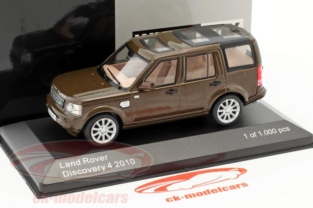 Land Rover Discovery 4 year 2010 brown metallic 1:43 WhiteBox