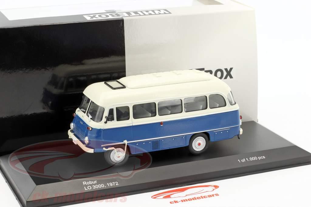 Robur LO 3000 bus année de construction 1972 bleu / blanc 1:43 WhiteBox