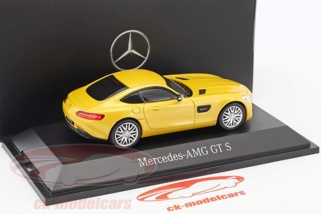 Mercedes-Benz AMG GT S coupe solar beam yellow metallic 1:43 Norev