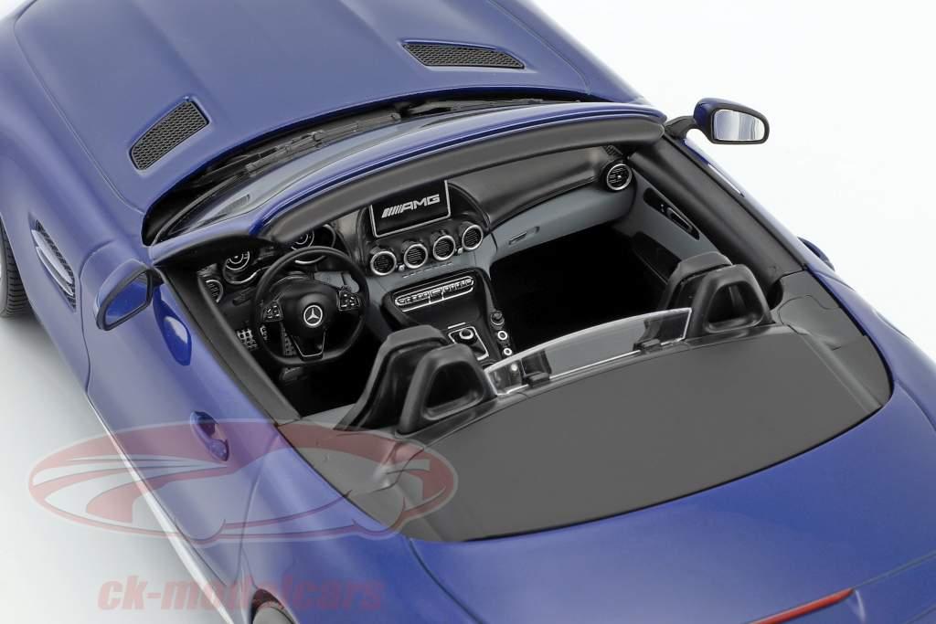 Mercedes-Benz AMG GT C Roadster Baujahr 2017 brilliantblau metallic 1:18 Norev