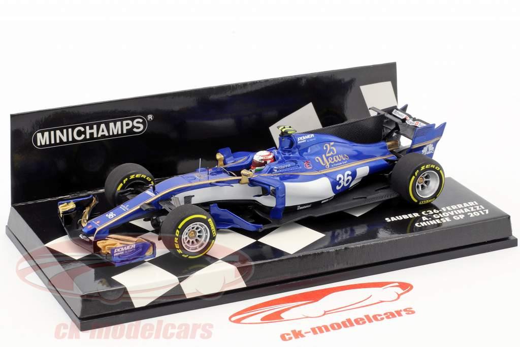 Antonio Giovinazzi Sauber C36 #36 cinese GP formula 1 2017 1:43 Minichamps