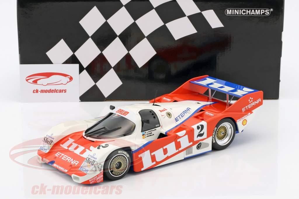Porsche 962 C Brun #2 3rd 1000km Nürburgring 1987 1:18 Minichamps