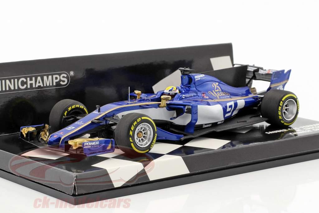 Marcus Ericsson Sauber C36 #9 cinese GP formula 1 2017 1:43 Minichamps