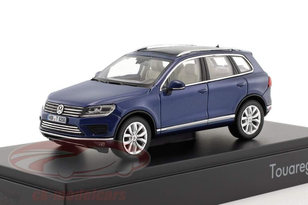 Volkswagen VW Touareg anno di costruzione 2015 blu metallico 1:43 Herpa