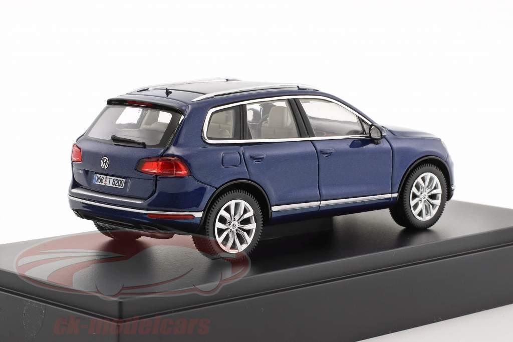 Volkswagen VW Touareg Baujahr 2015 blau metallic 1:43 Herpa