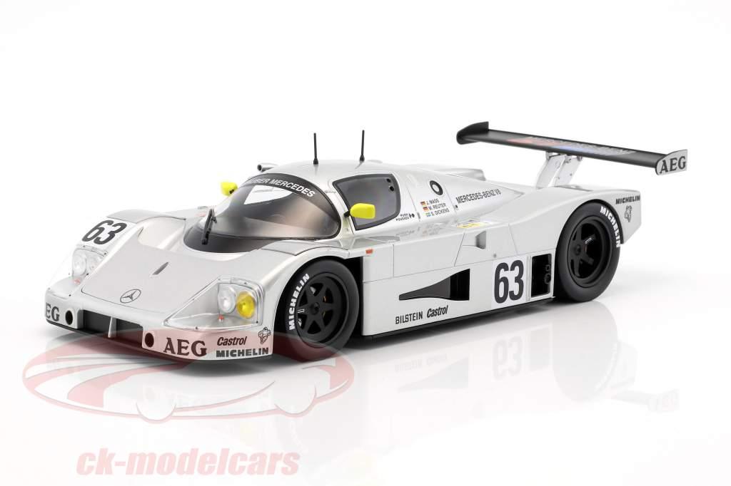 Sauber-Mercedes C9 #63 gagnant 24h LeMans 1989 Mass, Dickens, Reuter 1:18 Norev