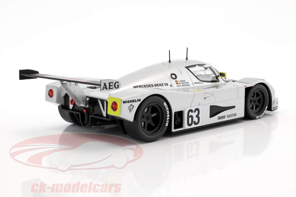 Sauber-Mercedes C9 #63 Winner 24h LeMans 1989 Mass, Dickens, Reuter 1:18 Norev