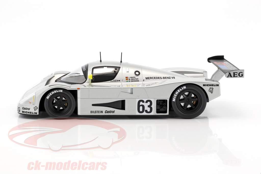 Sauber-Mercedes C9 #63 vincitore 24h LeMans 1989 Mass, Dickens, Reuter 1:18 Norev