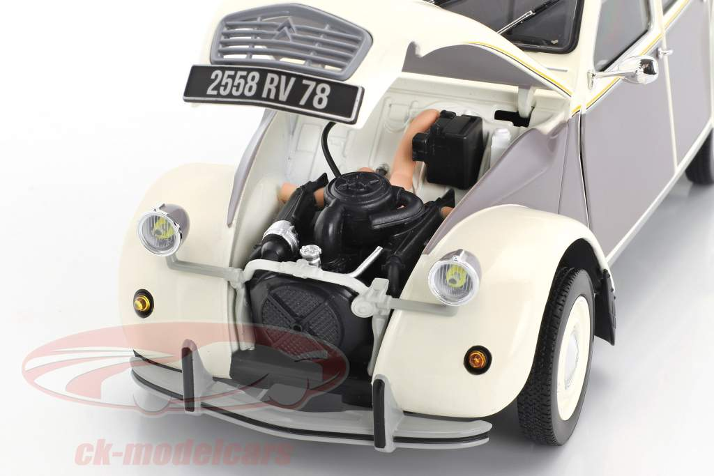 Citroen 2CV Dolly year 1985 white / gray 1:18 Norev
