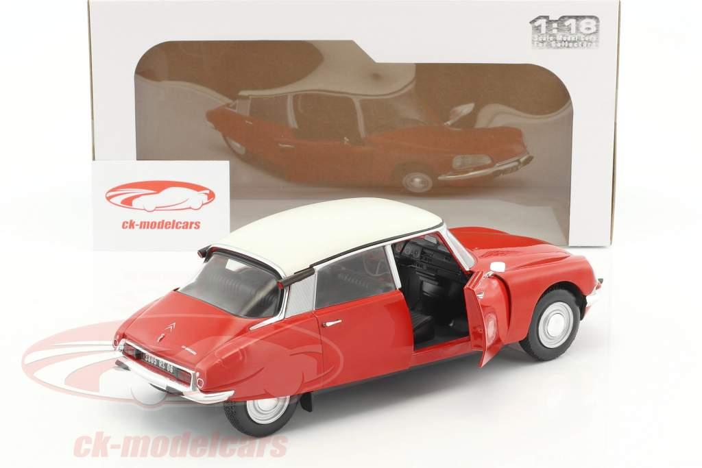 Citroen DS Special année de construction 1972 rouge / blanc 1:18 Solido