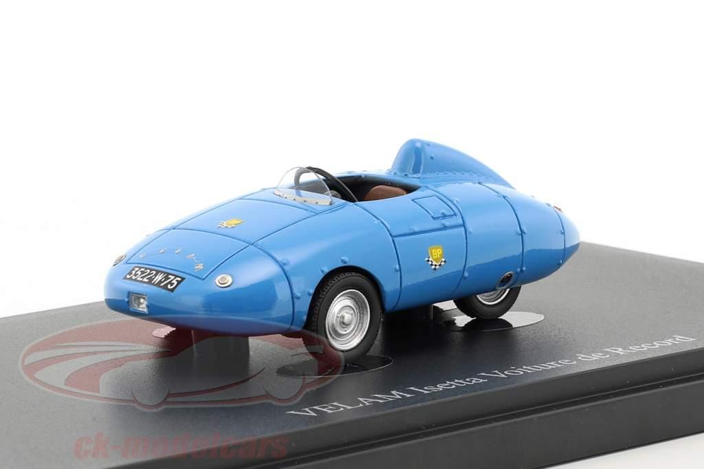 Velam Isetta Voiture de Record année de construction 1957 bleu 1:43 AutoCult