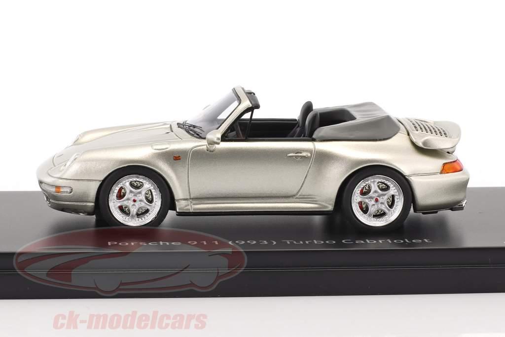 Porsche 911 (993) Turbo Cabriolet silver gray metallic 1:43 Schuco