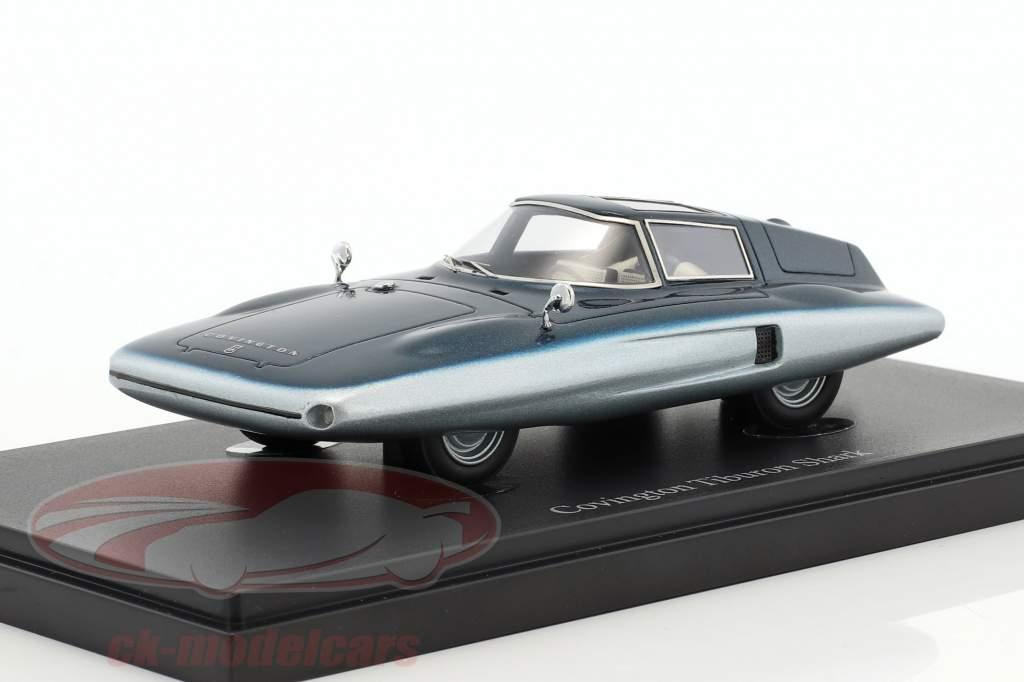 Covington Tiburon Shark year 1961 blue 1:43 AutoCult