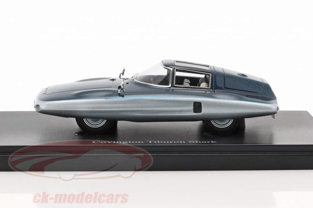 Covington Tiburon Shark ano de construção 1961 azul 1:43 AutoCult