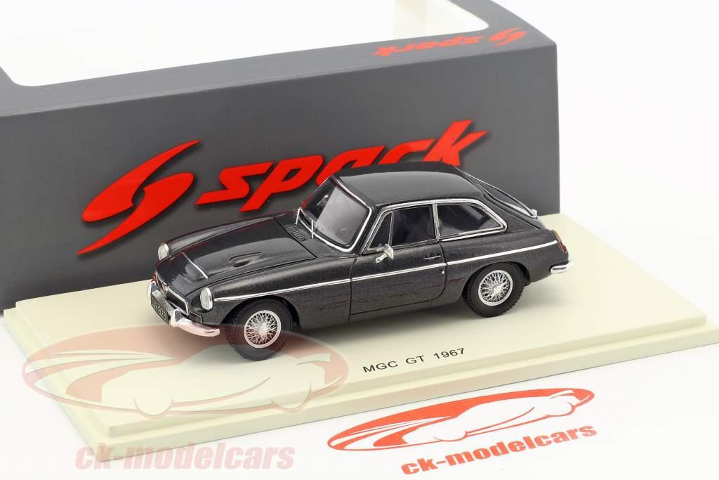 MGC GT année de construction 1967 sombre gris métallique 1:43 Spark