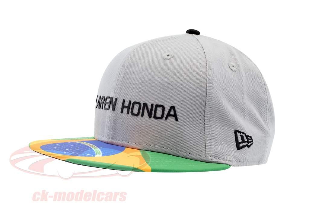 McLaren Honda formula 1 2017 Alonso & Vandoorne Special Edition Brasile Cap grigio M/L