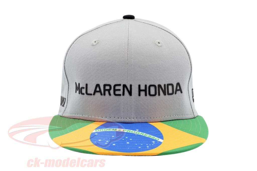 McLaren Honda formula 1 2017 Alonso & Vandoorne Special Edition Brazil Cap Gray M/L
