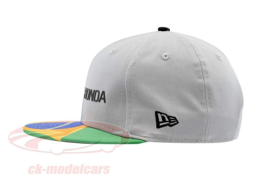 McLaren Honda formule 1 2017 Alonso & Vandoorne Special Edition Brésil Cap gris S/M
