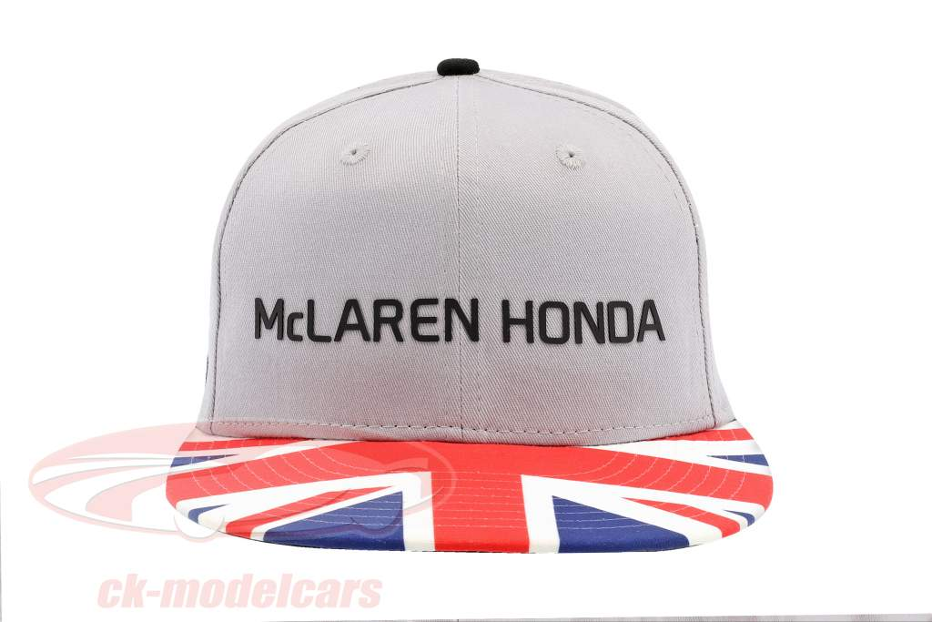 McLaren Honda formula 1 2017 Alonso & Vandoorne Special Edition Great Britain Cap Gray S/M