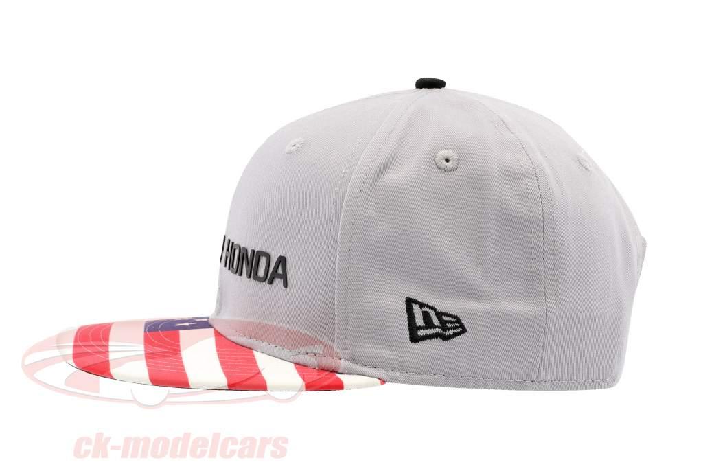 McLaren Honda Formel 1 2017 Alonso & Vandoorne Special Edition USA Cap grau S/M
