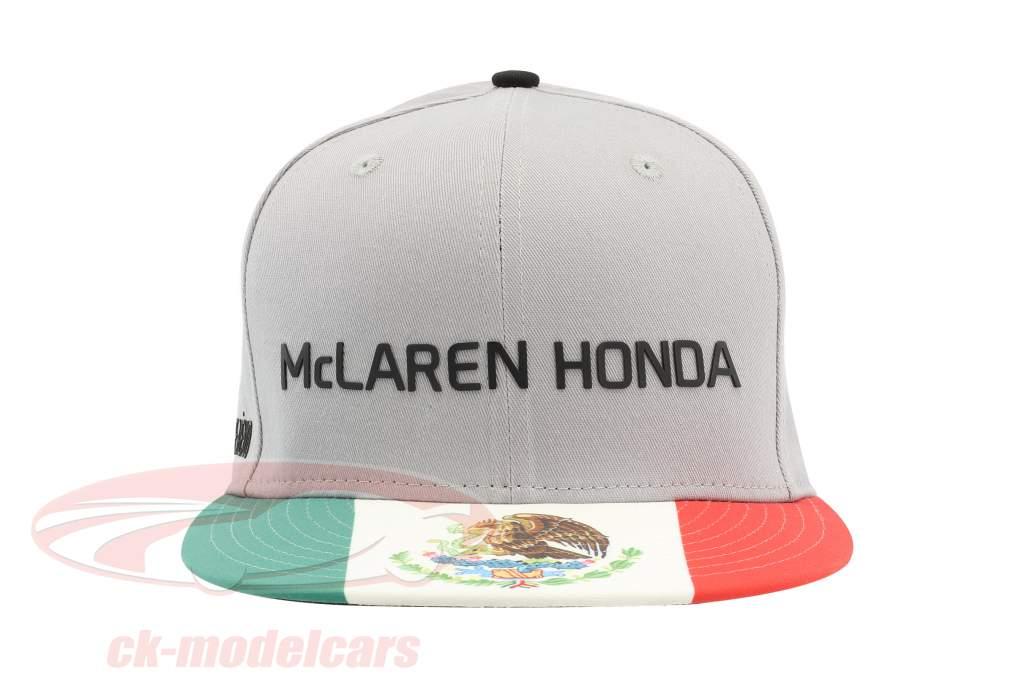 McLaren Honda formula 1 2017 Alonso & Vandoorne Special Edition Mexico Cap Gray M/L