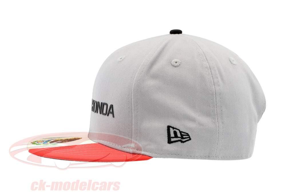 McLaren Honda formule 1 2017 Alonso & Vandoorne Special Edition Mexique Cap gris S/M