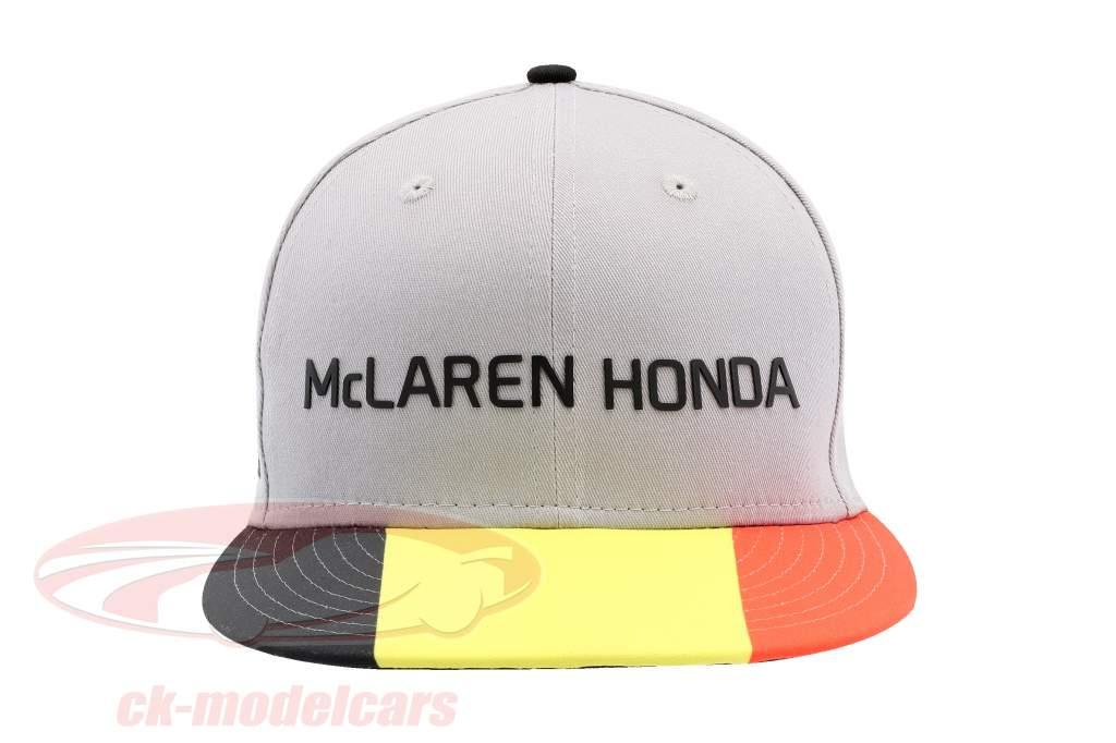 McLaren Honda formula 1 2017 Alonso & Vandoorne Special Edition Belgio Cap grigio S/M