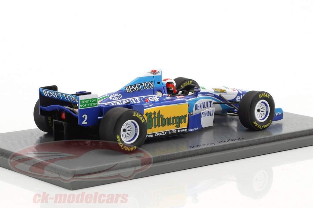 Johnny Herbert Benetton B195 #2 Winner British GP formula 1 1995 1:43 Spark