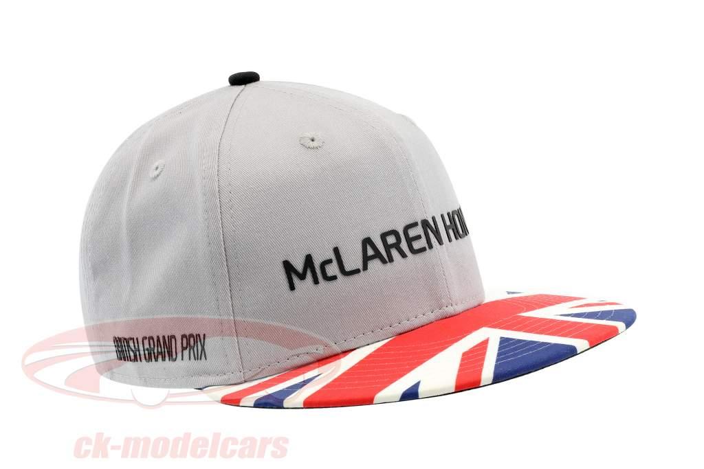 McLaren Honda formula 1 2017 Alonso & Vandoorne Special Edition Gran Bretagna berretto grau M/L