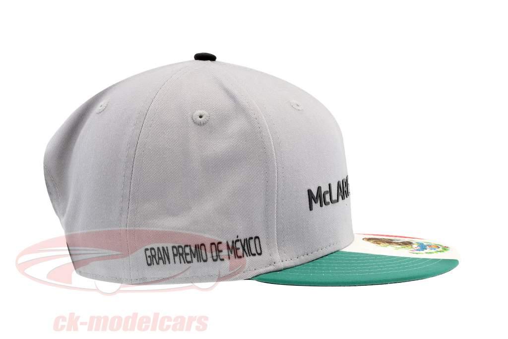 McLaren Honda formula 1 2017 Alonso & Vandoorne Special Edition Messico Cap grigio S/M