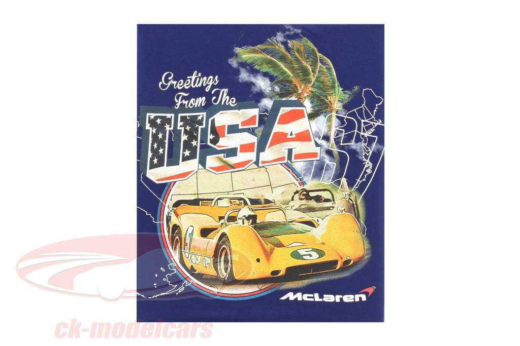 McLaren Greetings from USA Can-Am T-Shirt blau