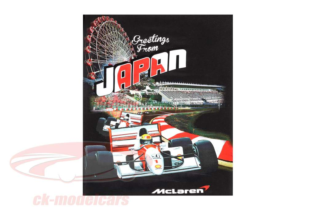 McLaren Greetings from Japan Ayrton Senna F1 1993 Maglietta nero