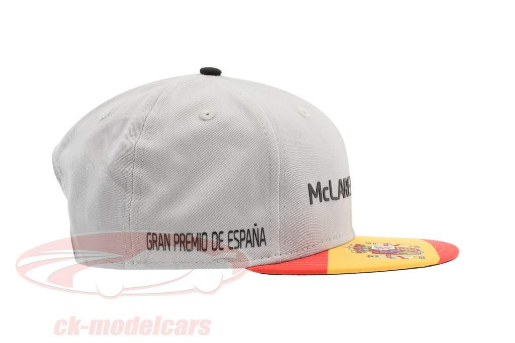 McLaren Honda formula 1 2017 Alonso & Vandoorne Special Edition Spain Cap Gray S/M