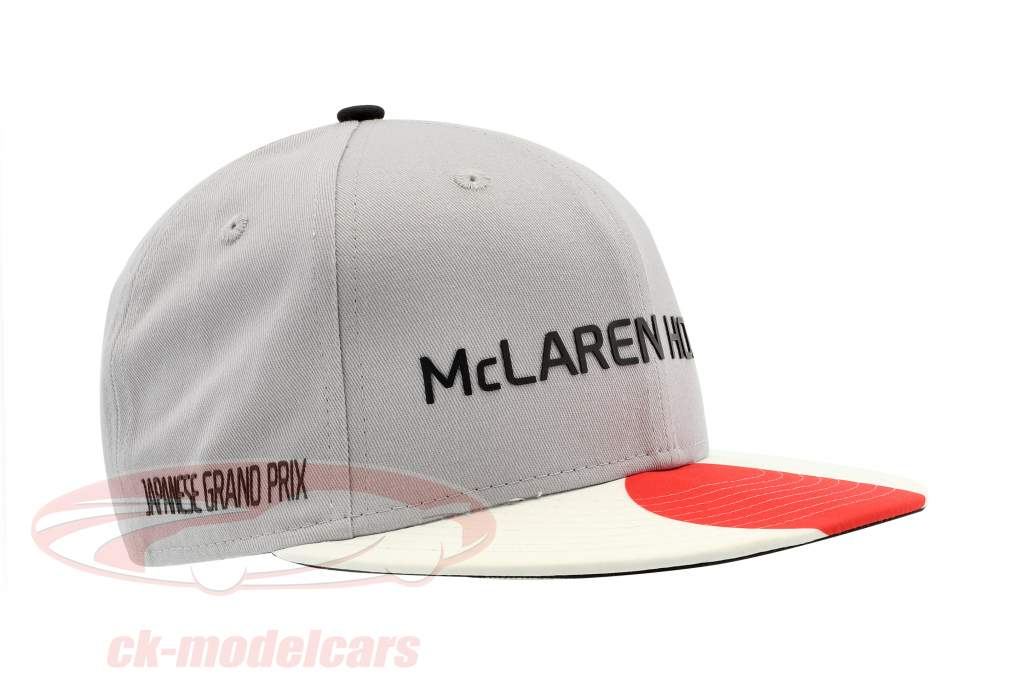 McLaren Honda formule 1 2017 Alonso & Vandoorne Special Edition Japon Cap gris M/L