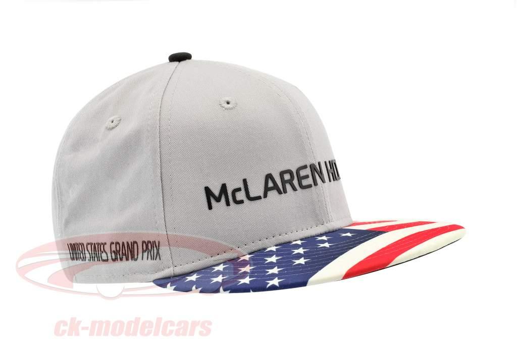 McLaren Honda formula 1 2017 Alonso & Vandoorne Special Edition USA Cap grigio M/L