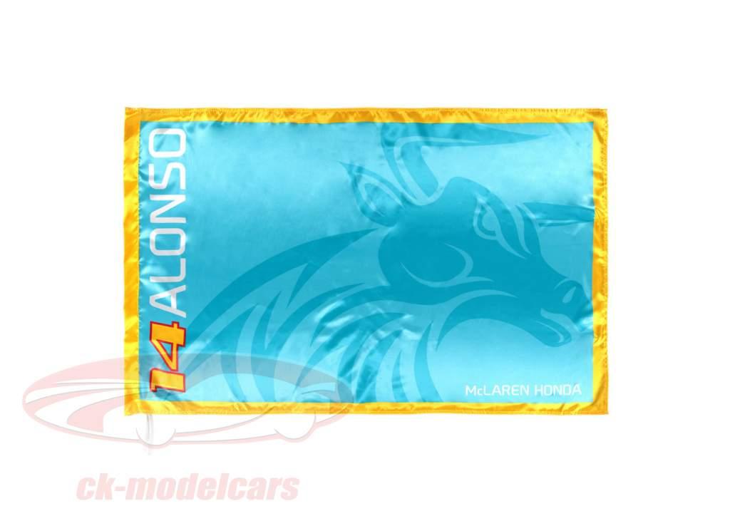 McLaren Honda Fernando Alonso #14 flag azurblå