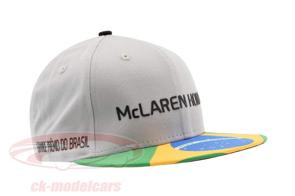 McLaren Honda Formel 1 2017 Alonso & Vandoorne Special Edition Brasilien Cap grau S/M