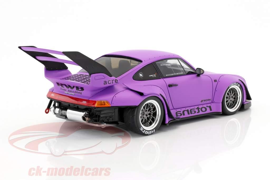 Porsche 911 (993) RWB Rotana mat purple 1:18 GT-Spirit