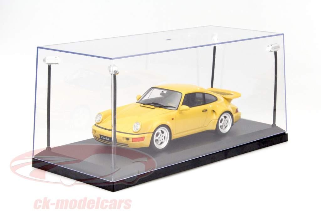 single vitrine met 4 mobiel LED lampen voor model- auto's in schaal 1:18 Triple9