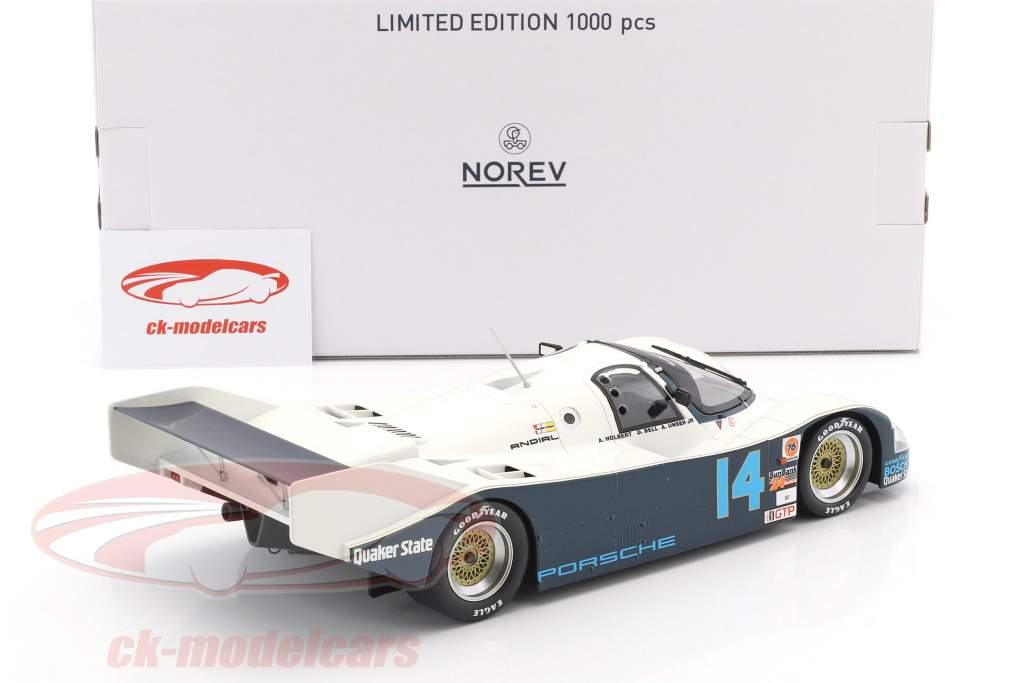 Porsche 962 C #14 ganador 24h Daytona 1986 Holbert, Unser, Bell 1:18 Norev