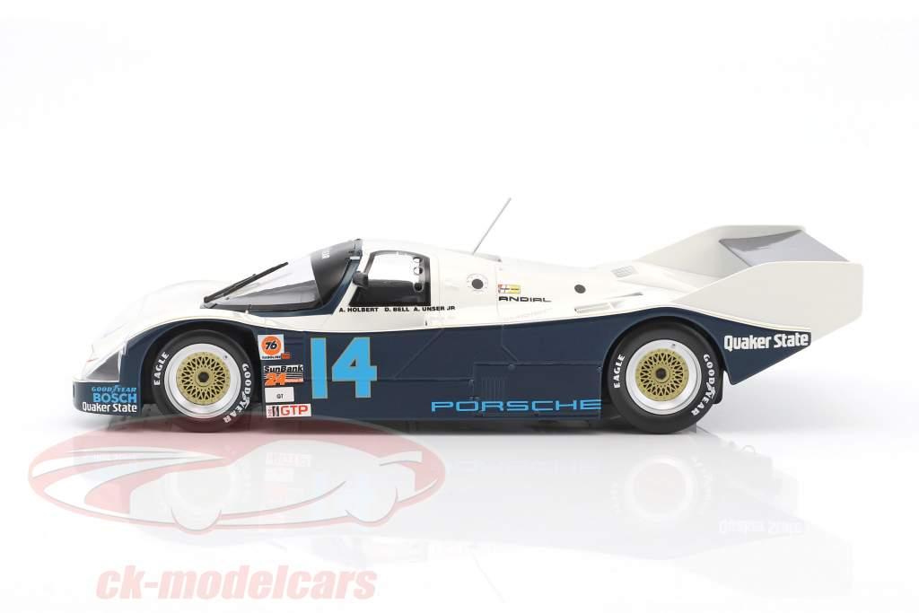 Porsche 962 C #14 winnaar 24h Daytona 1986 Holbert, Unser, Bell 1:18 Norev
