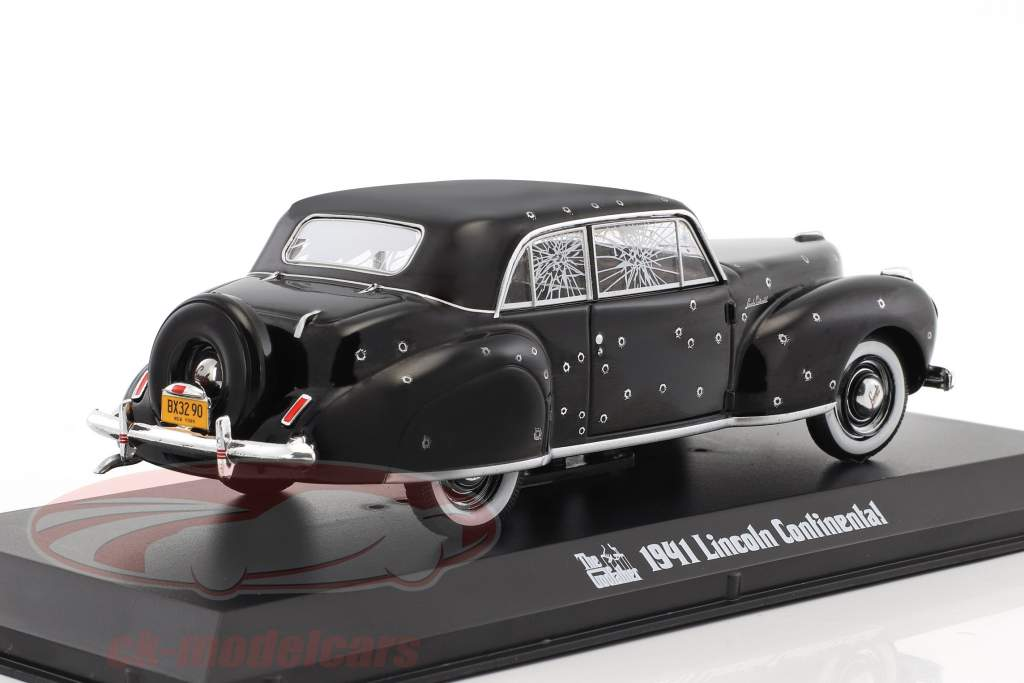 Lincoln Continental with Bullet Whole Damage film The Godfather 1972 noir 1:43 Greenlight