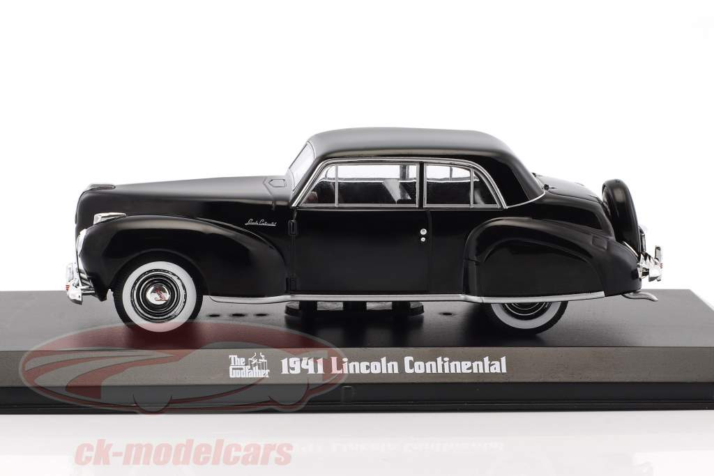 Lincoln Continental película The Godfather 1972 negro 1:43 Greenlight