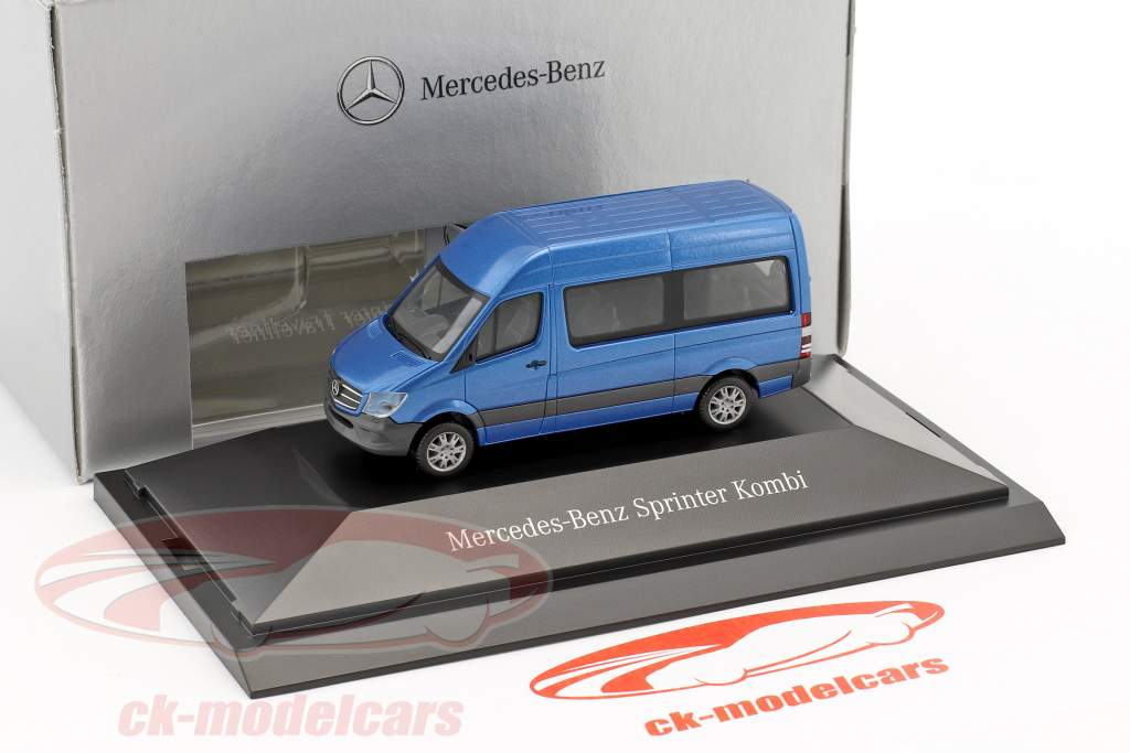 Mercedes-Benz Sprinter Kombi syd hav blå metallisk 1:87 Herpa