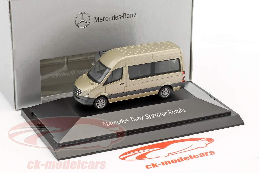 Mercedes-Benz Sprinter Kombi perle sølv metallisk 1:87 Herpa