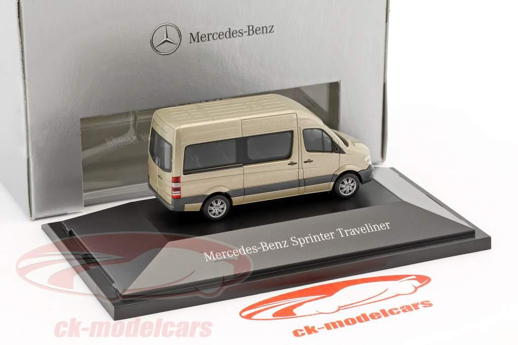 Mercedes-Benz Sprinter Kombi parel zilver metalen 1:87 Herpa