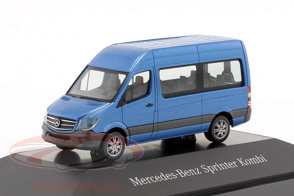 Mercedes-Benz Sprinter Kombi Sud mari blu metallico 1:87 Herpa