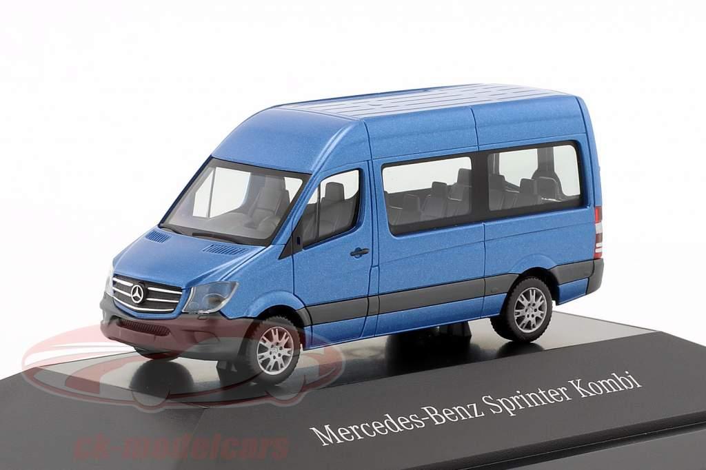 Mercedes-Benz Sprinter Kombi zuiden zeeën blauw metalen 1:87 Herpa
