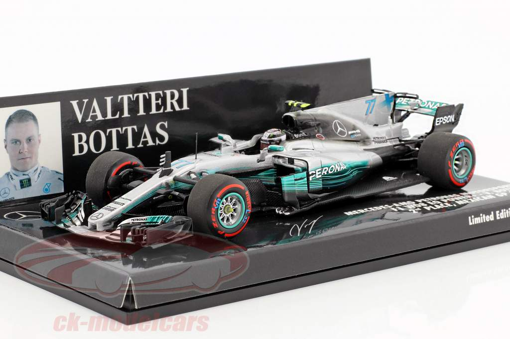Valtteri Bottas Mercedes F1 W08 EQ Power  #77 segundo Mexiko GP F1 2017 1:43 Minichamps